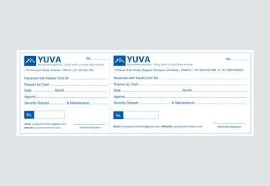 Payment Receipt Design - Yuva Accommodation