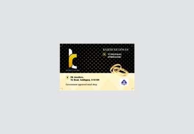 RK Jewelers - Visiting Card Design